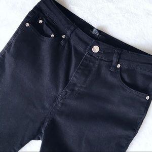 Forever 21 Black Moto Style Skinny Jeans